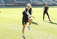 Portland, OR - Wednesday September 30, 2015: Seattle Reign FC train at Providence Park prior to the NWSL Championship Game.