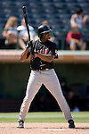 Indianapolis Indians center fielder Rajai Davis stands in at the plate versus the Charlotte Knights at Knights Stadium in Fort Mill, SC, Sunday, August 13, 2006.