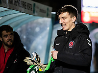 Fleetwood Town's Billy Crellin pictured before the match<br /> <br /> Photographer Andrew Kearns/CameraSport<br /> <br /> The EFL Sky Bet League One - Wycombe Wanderers v Fleetwood Town - Tuesday 11th February 2020 - Adams Park - Wycombe<br /> <br /> World Copyright © 2020 CameraSport. All rights reserved. 43 Linden Ave. Countesthorpe. Leicester. England. LE8 5PG - Tel: +44 (0) 116 277 4147 - admin@camerasport.com - www.camerasport.com