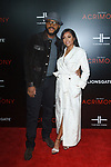 "Director Tyler Perry and actress Taraji P. Henson arrive on the red-carpet for Tyler Perry""s ACRIMONY movie premiere at the School of Visual Arts Theatre in New York City, on March 27, 2018."