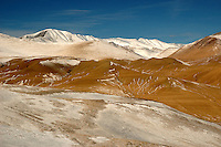 A view of the spectacular desert landscape along the Karakoram Highway in the Xinjiang Uyghur Autonomous Region in western China.