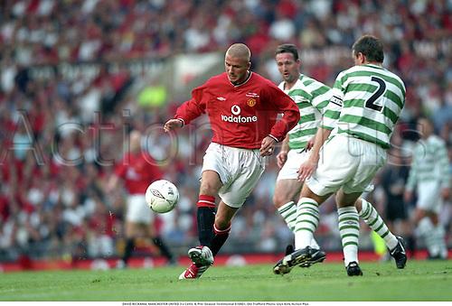 DAVID BECKHAM, MANCHESTER UNITED 3 v Celtic 4, Pre-Season Testimonial 010801, Old Trafford Photo: Glyn Kirk/Action Plus...2001.Premier League.Soccer.Football.english premiership club clubs.association