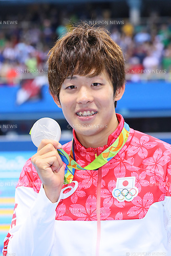 Masato Sakai (JPN), <br /> AUGUST 9, 2016 - Swimming : <br /> Men's 200m Butterfly Medal Ceremony  <br /> at Olympic Aquatics Stadium <br /> during the Rio 2016 Olympic Games in Rio de Janeiro, Brazil. <br /> (Photo by Yohei Osada/AFLO SPORT)