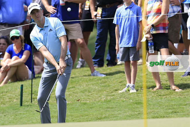 Martin Laird (SCO) chips onto the 13th green during Thursday's Round 1 of the 2017 PGA Championship held at Quail Hollow Golf Club, Charlotte, North Carolina, USA. 10th August 2017.<br /> Picture: Eoin Clarke | Golffile<br /> <br /> <br /> All photos usage must carry mandatory copyright credit (&copy; Golffile | Eoin Clarke)