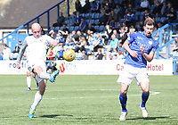 Ross Campbell shooting in the SPFL Ladbrokes Championship Play Off semi final match between Queen of the South and Montrose at Palmerston Park, Dumfries on  11.5.19.