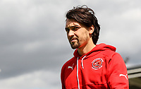 Fleetwood Town player Markus Schwabl inspect the pitch on arrival at the Sixfields Stadium<br /> <br /> Photographer Andrew Kearns/CameraSport<br /> <br /> The EFL Sky Bet League One - Northampton Town v Fleetwood Town - Saturday August 12th 2017 - Sixfields Stadium - Northampton<br /> <br /> World Copyright &copy; 2017 CameraSport. All rights reserved. 43 Linden Ave. Countesthorpe. Leicester. England. LE8 5PG - Tel: +44 (0) 116 277 4147 - admin@camerasport.com - www.camerasport.com