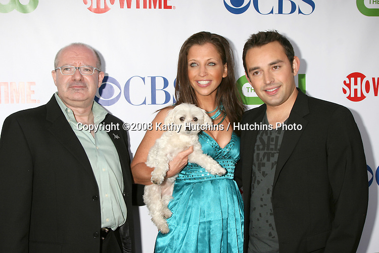 Allan Reznik, Wendy Diamond, and Jared Miller  arriving at the CBS TCA Summer 08 Party at Boulevard 3 in Los Angeles, CA on.July 18, 2008.©2008 Kathy Hutchins / Hutchins Photo .