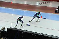 SPEED SKATING: SALT LAKE CITY: 21-11-2015, Utah Olympic Oval, ISU World Cup, 10.000m Men, start, Jorrit Bergsma (NED), Sven Kramer (NED), ©foto Martin de Jong
