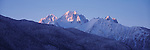 The snow-covered San Juan mountains in Colorado.