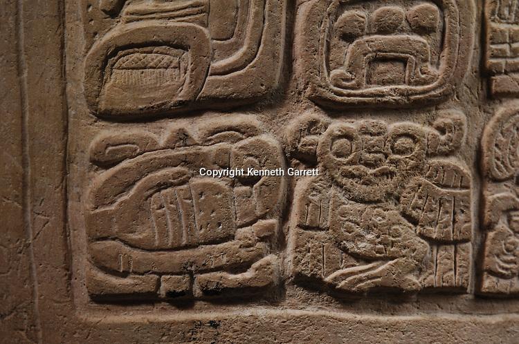 Maya Rise and Fall; Museo Nacional de Arquelogia y Ethnologia; Ministerio de Cultura y Deportes; Guatemala; Guatemala City;Tikal; Marcador, Spearthrower Owl; Ancient Cultures; Maya; Mayan