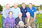Kerry All Ireland winning goalkeepers who were honoured at the Legion club 80th anniversary celebrations in the Legion clubhouse on Monday evening front row l-r: Johnny Culloty, Johnny Foley, Gary O'Mahony. Back row: Declan O'Keeffe, Charlie Nelligan, Diarmuid Murphy and Peter O'Leary