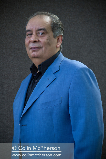 Egyptian columnist and writer Youssef Ziedan, pictured at the Edinburgh International Book Festival where he talked about his new work entitled 'Azazeel'. The three-week event is the world's biggest literary festival and is held during the annual Edinburgh Festival. The 2012 event featured talks and presentations by more than 500 authors from around the world.