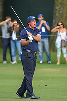 Phil Mickelson (USA) watches his approach shot on 16 during round 2 of the World Golf Championships, Mexico, Club De Golf Chapultepec, Mexico City, Mexico. 2/22/2019.<br /> Picture: Golffile | Ken Murray<br /> <br /> <br /> All photo usage must carry mandatory copyright credit (© Golffile | Ken Murray)