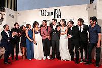 """Raul Arebalo, Antonio de la Torre, Luis Callejo, Ruth Díaz, Manolo Solo, Alicia Rubio, Raúl Jiménez, Font García and Luis Poveda during the premiere of the film """"Tarde para la Ira"""" in Madrid. September 08, 2016. (ALTERPHOTOS/Rodrigo Jimenez) /NORTEPHOTO.COM"""
