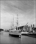 A ship in the Puerto Madero district in Buenos Aires, Argentina.