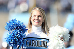 30 November 2013: UNC Cheerleader. The University of North Carolina Tar Heels played the Duke University Blue Devils at Keenan Memorial Stadium in Chapel Hill, NC in a 2013 NCAA Division I Football game. Duke won the game 27-25.