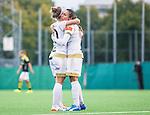 Solna 2015-10-11 Fotboll Damallsvenskan AIK - FC Roseng&aring;rd :  <br /> Roseng&aring;rds Josee Belanger firar sitt 0-1 m&aring;l med Marta Vieira da Silva under matchen mellan AIK och FC Roseng&aring;rd <br /> (Foto: Kenta J&ouml;nsson) Nyckelord:  Damallsvenskan Allsvenskan Dam Damer Damfotboll Skytteholm Skytteholms IP AIK Gnaget  FC Roseng&aring;rd jubel gl&auml;dje lycka glad happy