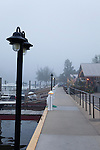 Foggy harbor on Lake MIchigan, Saugatuck, Michigan, USA