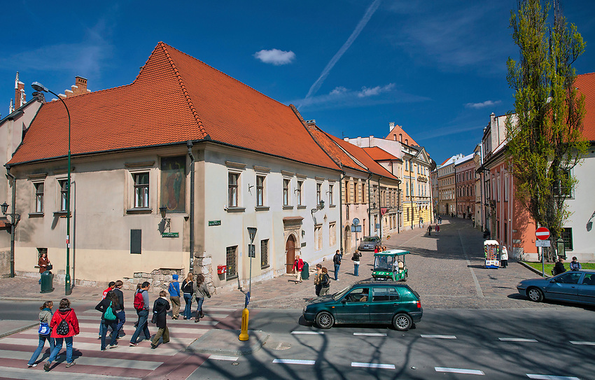Dom Jana Długosza przy ulicy Kanoniczej 25 w Krakowie, widok od strony ulicy Podzamcze, Polska<br /> Jan Dlugosz's House at 25 Kanonicza Street in Cracow, view from Podzamcze Street, Poland