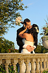 Newlweds frolic on the beautiful grounds of the Tarrytown House in the Hudson Valley.