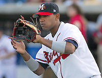 21 April 2007: Diory Hernandez of the Mississippi Braves, the Atlanta Braves' Class AA affiliate of the Southern League, in a game against the Birmingham Barons at Trustmark Park in Pearl, Miss. Photo by:  Tom Priddy/Four Seam Images
