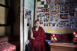 Monks in the Dormitory at the Royal School of Astrology in Thimphu degree course of 7 years with more than 116 students
