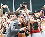 Matthew Goode and fans attending the Red Carpet Arrivals for 'The Imitation Game' at the Princess of Whales Theatre during the 2014 Toronto International Film Festival on September 9, 2014 in Toronto, Canada.
