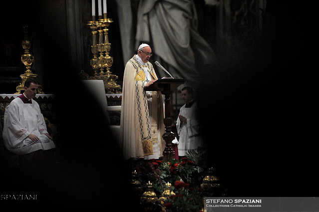 Pope Francis leads a consistory for the creation of five new cardinals  at St Peter's basilica in Vatican.  from countries  : El Salvador, Laos, Mali,Sweden and Spain.<br /> Cardinal Gregorio Rosa Chavez from Salvador;Cardinal Louis-Marie Ling Mangkhanekhoun from Laos;Cardinal Anders Arborelius from Sweden;Cardinal Jean Zerbo from Mali;Cardinal Juan José Omella of Spain on June 28, 2017