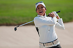 Ai-Chen Kuo of Chinese Taipei reacts during the Hyundai China Ladies Open 2014 on December 09 2014 at Mission Hills Shenzhen, in Shenzhen, China. Photo by Xaume Olleros / Power Sport Images
