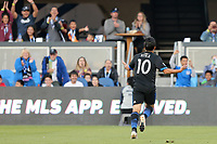 San Jose, CA - Saturday August 25, 2018: Jahmir Hyka during a Major League Soccer (MLS) match between the San Jose Earthquakes and Vancouver Whitecaps FC at Avaya Stadium.