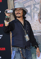 Johnny Depp lookalike at The Disney World Premiere of The Lone Ranger held at at Disney California Adventure in Anaheim, California on June 22,2021                                                                   Copyright 2013 DVSIL / iPhotoLive.com