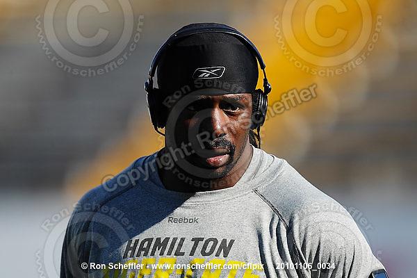 November 6, 2010; Hamilton, Ontario, Canada; Hamilton Tiger-Cats linebacker Yannick Carter (48). CFL football: BC Lions vs. Hamilton Tiger-Cats at Ivor Wynne Stadium. The Lions defeated the Tiger-Cats 23-21. Mandatory Credit: Ron Scheffler.