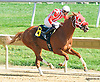 Melody Pomeroy winning at Delaware Park on 10/3/15