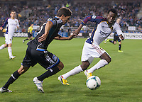 March 3rd, 2013: Kenny Mansally defending Shea Salinas during a game at Buck Shaw Stadium, Santa Clara, Ca.  Salt Lake Real defeated San Jose Earthquakes