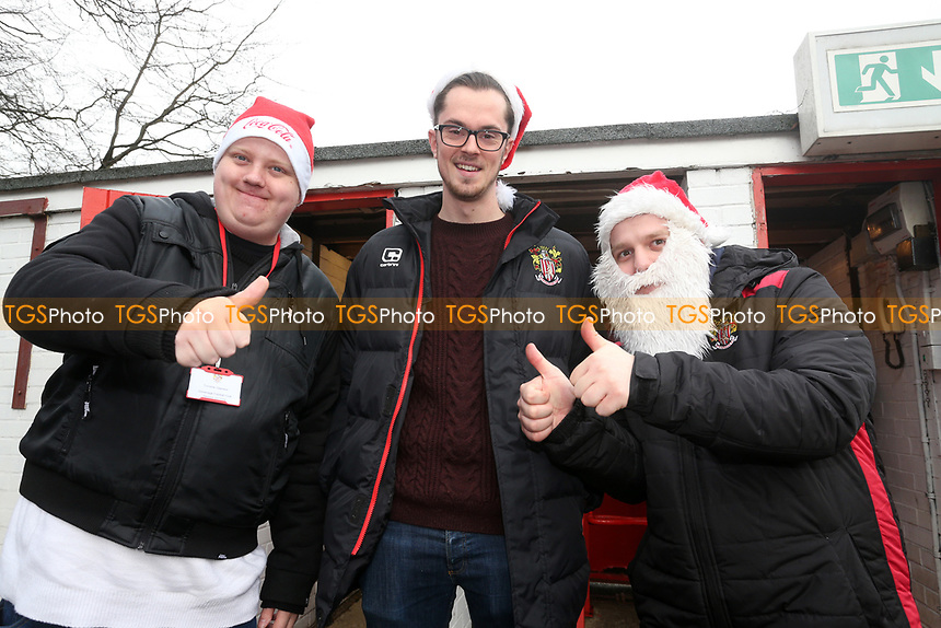 Festive turnstile operators during Stevenage vs Chesterfield, Sky Bet EFL League 2 Football at the Lamex Stadium on 23rd December 2017