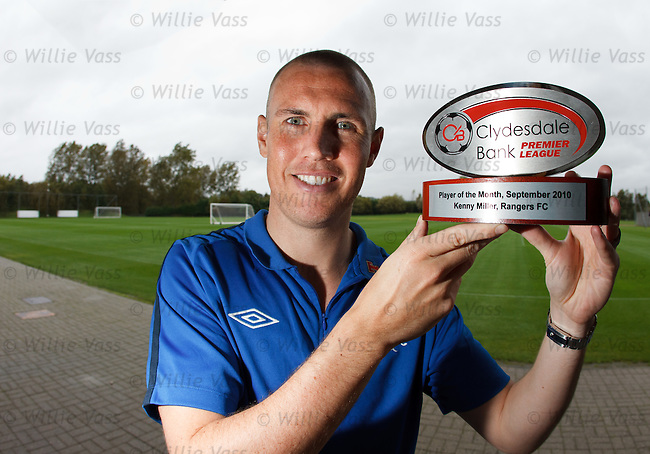 Two (or is it three?) in a row.. Kenny Miller picks up the Clydesdale Bank Player of the Month award for September