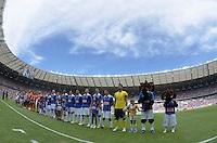 BELO HORIZONTE, MG, 3 FEVEREIRO 2013 - CAMPEONATO MINEIRO 2013 - CRUZEIRO x ATLETICO - Reabertura do Mineirao, um dos estadios para a Copa do Mundo 2014 e Copa das Confederacoes 2013 no Brasil. Na foto, o Novo Mineirao durante a partida entre, Cruzeiro e Atletico, valida pela 1 rodada do Campeonato Mineiro 2013, no Estadio Mineirao, em Belo Horizonte MG. (FOTO: DOUGLAS MAGNO / BRAZIL PHOTO PRESS).