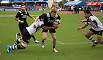 Damian McKenzie. Maori All Blacks vs. Fiji. Suva. July 11, 2015. Photo: Marc Weakley