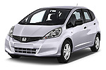 2014 Honda Jazz s 5 Door Hatchback 2WD Angular Front stock photos of front three quarter view