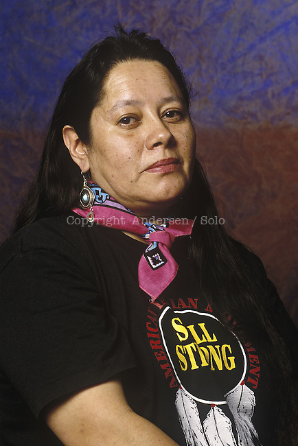 Mary Crow Dog, American author. Mary Brave Bird, Mary Ellen Moore-Richard in May 1997 (1954-2013)