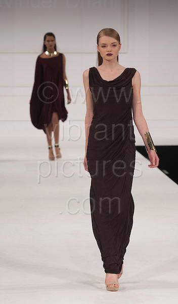 Collection by Pavinder Dhani of UCA Rochester. Graduate Fashion Week 2012 at London's Earl's Court.