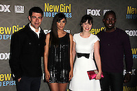 Max Greenfield, Hannah Simone, Zooey Deschanel, Lamorne Morris<br />
