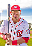 28 February 2016: Washington Nationals catcher Wilson Ramos poses for his Spring Training Photo-Day portrait at Space Coast Stadium in Viera, Florida. Mandatory Credit: Ed Wolfstein Photo *** RAW (NEF) Image File Available ***