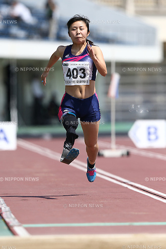 Hitomi Onishi,<br /> MAY 1, 2016 - Athletics :<br /> Japan Para Athletics Championships<br /> Women's Long Jump T42 Final<br /> at Coca Cola West Sports Park, Tottori, Japan.<br /> (Photo by Shingo Ito/AFLO SPORT)