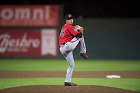 Billings Mustangs relief pitcher Jake Wyrick (26) delivers a pitch during a Pioneer League game against the Idaho Falls Chukars at Melaleuca Field on August 22, 2018 in Idaho Falls, Idaho. The Idaho Falls Chukars defeated the Billings Mustangs by a score of 5-3. (Zachary Lucy/Four Seam Images)