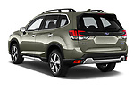 Car pictures of rear three quarter view of 2019 Subaru Forester e-Boxer-Premium 5 Door SUV Angular Rear