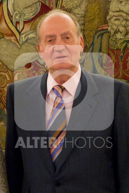 03.07.2012. King Juan Carlos I of Spain attends the Dominican Republic's President Leonel Fernandez and his wife Margarita Cedeño in the Zarzuela Palace. In the image Juan Carlos I de Borbon  (Alterphotos/Marta Gonzalez)