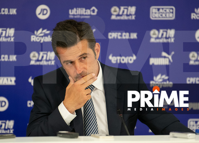 Everton manager Sam Marco Silva press conference after  the Premier League match between Crystal Palace and Everton at Selhurst Park, London, England on 10 August 2019. Photo by Andrew Aleksiejczuk / PRiME Media Images.