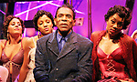 "André De Shields, Ted Lange and Kim Brockington, Lawrence Street, Reji Woods, Tyrone Davis, Jennifer Akabue, Gina Marie Rivera, Kisa Willis, Charletta Rozzell, Soneelea Nankani, Jabari Brisport and Gerron Atkinson in the Classical Theatre of Harlem's production of ARCHBISHOP REVEREND SUPREME MAGIC MOST DIVINE SUPREME TARTUFFE by Alfred Preisser & Randy Weiner, directed by Preisser at The Clurman @ Theatre Row in New York, from June 12 - July 19, 2009.  Archbishop Supreme Tartuffe is an original play with music, inspired by Moliere's great comic classic and informed by the gloriously unorthodox ministries of Reverend Ike, Daddy Grace and Rasputin.  Set within a fabulously theatrical Harlem Renaissance-era ""church,"" the play explores the outrageously creative criminal mind of the title character through a series of songs, dances, sermons and feats of divine inspiration. Photo by Lia Chang"