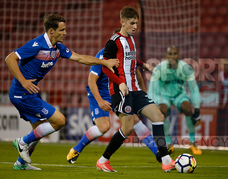 David Brooks of Sheffield Utd during the pre season friendly at Bramall Lane Stadium, Sheffield. Picture date: July 25th 2017. Picture credit should read: Simon Bellis/Sportimage